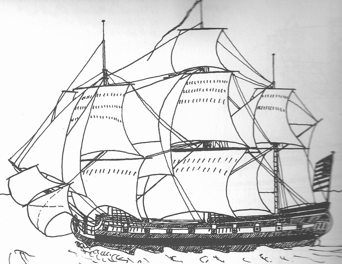 Line Drawing Ship : Old sailing ship drawings